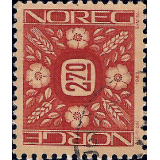 NOR Selo, 1987, (N), Yt:NO 920, New daily stamps (Ornaments).