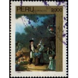 PER Selo, 1990, (U), Yt:PE 933, The 200th Anniversary of French Revolution - Paintings.