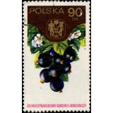 POL Selo, 1974, (U), 19th Intl. Hortcultural Cong., Warsaw - Black currants.
