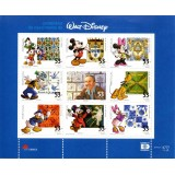 POR Mini-Folha (Raridade), 2001, (Mint), 09 Selos, 100 Years of the Birth of Walt Disney.