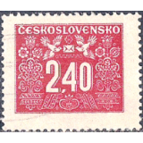 RTC Selo, 1946, (M), Yt:CS T75, Art Noeau Ornament.