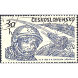 RTC Selo, 1964, (Mint), Yt:CS 1331, Space Exploration, J.Gagarin, loď Kosmos.