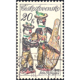 RTC Selo, 1978, (Mint), Yt:CS 2309, Slovak Ceramics, Musicians, by Jan Konyves.