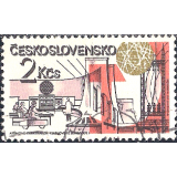 RTC Selo, 1981, (Mint), Yt:CS 2444, Achievements of Socialist Construction, Nuclear power station, Jaslovske Bohunice.
