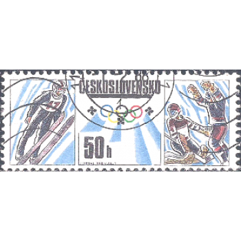 RTC Selo, 1988, (Mint), Yt:CS 2752, Winter & Summer Olympic Games - Calgary and Seoul, Olympic games - Ski jumping, ice hockey.