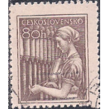 RTC Selo, 1954, Definitivo/Regular, (N), Yt:CS 758, Occupations, Textile worker.
