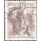 RTC Selo, 1955, (N), Yt:CS 798, The 10th Anniversary of Liberation, Tankman with flowers.