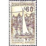 RTC Selo, 1962, (N), Yt:CS 1237, Czech Workers' Social Facilities, Sailboat and Trade Union rest home, Zinkovy.