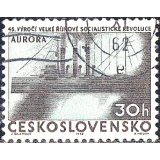 "RTC Selo, 1962, (N), Yt:CS 1240, The 45th Anniversary of Russian Revolution, Cruiser ""Aurora""."