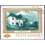 "ROM Selo, 1966, (Mint), Yt:RO 2248, Paintings from the National Gallery, ""Farmhouse"" by Gheorge Petrascu."
