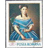 ROM Selo, 1968, (Mint), Yt:RO 2371, Paintings in the National Gallery, Woman in Blue, Mișu Popp (1827-1892).