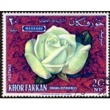 "SHA Selo, 1966, (Mint), Yt:AE-KF 25-A, White hybrid tea rose ""Message""; Breeder Meilland/France 53."