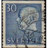 SUE Selo, 1957, (N), King Gustaf VI Adolf of Sweden - New Engravement with Imprint.