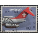 SUI Selo, 1981, (U), The 50th Anniversary of Swissair.