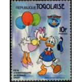TOG Selo, 1984, (N), The 50th Anniversary of Donald e Daisy.