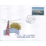 URU Envelope, 2007, (Mint), 01 Selo, The 100th Anniversary of Punta del Este.
