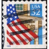 USA Selo, 1995, (U), Yt:US 2339, Flag Over Porch.